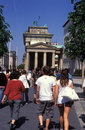 Tourists in Berlin Royalty Free Stock Photography