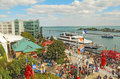 Tourists and boats at navy pier in chicago illinois september on the lakefront on september the is a popular Stock Images