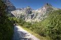 Turisti na horská chata na vysoký tatry slovensko