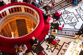 Tourists drink coffee in cafe inside the museum historical kunsthistorisches vienna musem was opened it is among most visited Stock Image