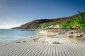 Tourists enjoying the Porto Mari white sand Beach