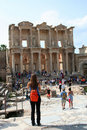 Tourists in ephesus Stock Image