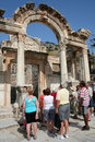 Tourists in ephesus Royalty Free Stock Photography