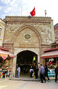Tourists in front of the grand bazaar, Istanbul, Turkey Royalty Free Stock Photo