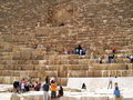 Tourists in Giza Stock Images