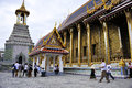 Tourists at grand Palace Royalty Free Stock Photo