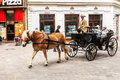 Tourists in a horse carriage in bratislava slovakia old town is the most populous and most visited city Stock Photo