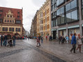 Tourists in leipzig germany june visiting the city centre summer Stock Photography