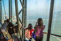 Tourists at Macau Tower Royalty Free Stock Photo