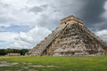 Tourists mayan pyramid chichen itza mexico Royalty Free Stock Photo