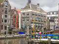 Tourists on a mooring of pleasure boats in amsterdam netherla the netherlands february netherlands Stock Image