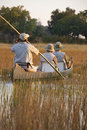 Tourists in the Okavango Delta - Botswana Stock Photography