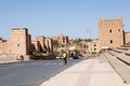 Tourists in Ouarzazate, Morocco Royalty Free Stock Images