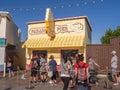 Tourists at Paradise Pier, Disney California Adventure Park Royalty Free Stock Photo