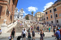 Tourists in Piazza di Spagna, Rome, Italy Royalty Free Stock Photo