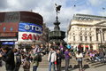 Tourists on Piccadilly Circus Royalty Free Stock Images