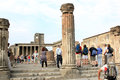 Tourists in pompei tempio di venere italy the city of pompeii was an ancient roman town city near modern naples pompeii along with Royalty Free Stock Photos