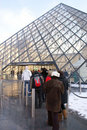 Tourists Queue at The Louvre Royalty Free Stock Photography