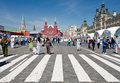 Tourists on Red Square in summer day Stock Photo