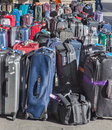 Tourists, suitcases and bags, traffic, bus tours, bus station Royalty Free Stock Photo
