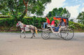 Tourists take a ride during a weekend at Museum Sungai Lembing, Kuantan, Pahang, Malaysia Royalty Free Stock Photo