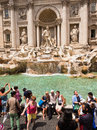 Tourists at the Trevi Fountain Rome Italy Royalty Free Stock Photo