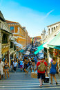 Tourists in venice Royalty Free Stock Photo