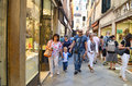 Tourists in Venice,Italy Royalty Free Stock Photo