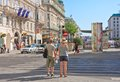 Tourists.Vienna. Austria Royalty Free Stock Photography