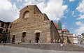 Tourists visiting Church of San Lorenzo in Florence Royalty Free Stock Photo