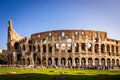 Tourists visiting colosseum in rome ancient stadium one of the most famous landmark the world Stock Photography
