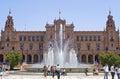 Tourists visiting Plaza de Espana, Seville, Spain Royalty Free Stock Photo