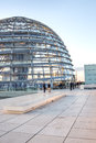 Tourists visiting reichstag dome in berlin in the late afternoon Stock Images