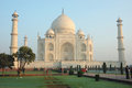 Tourists visiting  the Taj Mahal monument listed as UNESCO World Heritage Site ,India Royalty Free Stock Photo