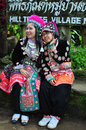 The tourists wear tribal costumes of Miao Tribal