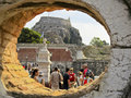 Tourits visit old Byzantine fortress of Corfu town Royalty Free Stock Photography