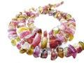 Tourmaline gemstone beads necklace jewelery isolated on white background Royalty Free Stock Images