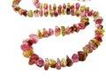 Tourmaline gemstone beads necklace jewelery isolated on white background Stock Image