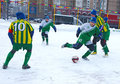 Tournament on minifootball Royalty Free Stock Photography