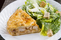 Tourtiere with caesar salad french canadian meat pie from quebec served at christmas Royalty Free Stock Photo