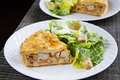 Tourtiere with caesar salad french canadian meat from quebec served at christmas Stock Photo