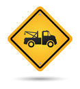 Tow road sign Stock Image