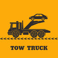 Tow truck icon yellow background