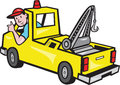 Tow Wrecker Truck Driver Thumbs Up Royalty Free Stock Photos