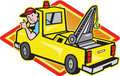 Tow Wrecker Truck Driver Thumbs Up Stock Image