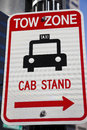 Tow Zone - Cab Stand Stock Photo