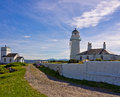 Toward lighthouse and fog horn building scotland uk Royalty Free Stock Photos