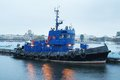 Towboat the image of a Royalty Free Stock Image