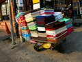 Towel cart selling coloured towels on the streets of pattaya thailand Stock Photography