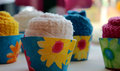 Towel Cupcakes Royalty Free Stock Photo